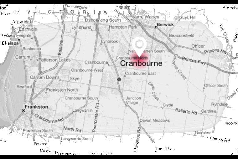 cranbourne map