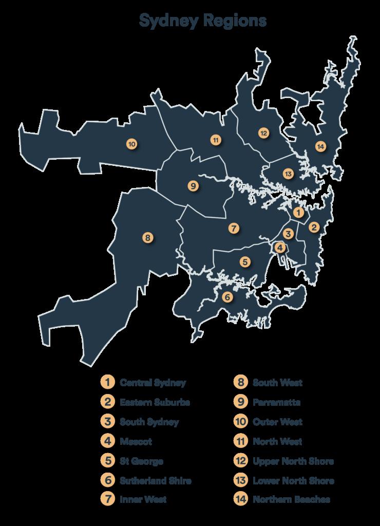 Servicing 14 regions in Sydney